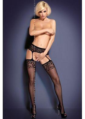 Podväzkový pás s punčochami OBSESSIVE Garter stockings S500