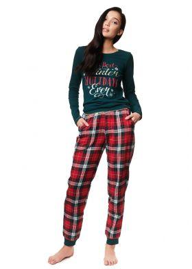 Dámske bavlnené pyžamo HENDERSON Ladies 39221 Zev