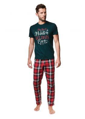Pánske bavlnené pyžamo HENDERSON Premium 39407 Zev