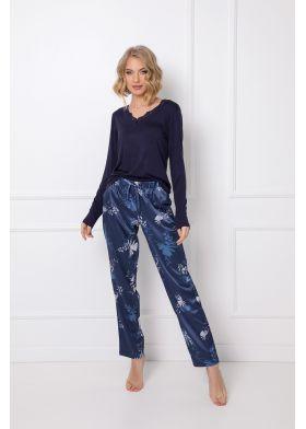 Dámske saténové pyžamo ARUELLE Whiley Long