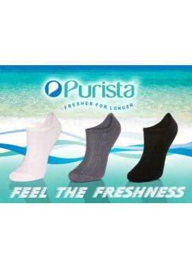 Členkové antibakteriálne unisex ponožky TAK Purista - dámske 35-37, 38-40