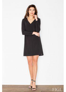 Dámske elegantné šaty FIGL M471 - čierne