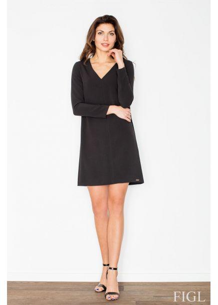Dámske elegantné šaty FIGL M471 - čierne 251bc6790fa