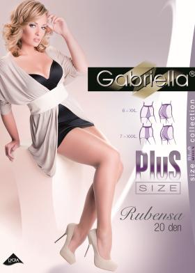 XXL/XXXL Dámske silonky GABRIELLE Rubensa 20 DEN