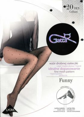 Bodkované silonky GATTA Funny 05 20DEN