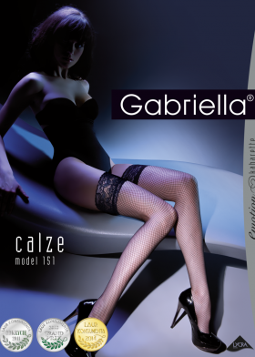 Sieťované silonky GABRIELLA Kabarette 151