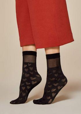 Vzorované ponožky FIORE Date 30DEN
