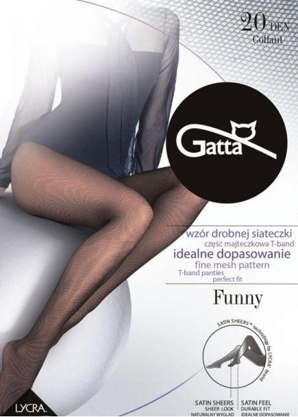 Dámske sieťované silonky GATTA Funny 20DEN