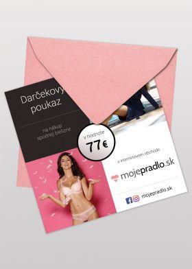 Darčekový poukaz v hodnote 77€