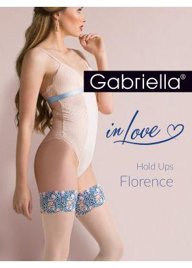 XXL samodržiace silonky GABRIELLA 626 Hold Ups Florenc