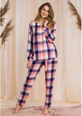 Kostkované pyžamo KEY LNS 405 B20 1