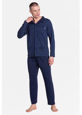 Pánske pyžamo na zapínanie HENDERSON 38363 Zander