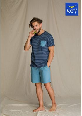 Krátke pánske pyžamo KEY MNS 349 A21