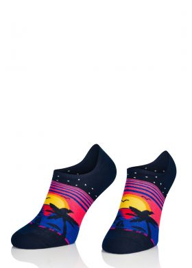 Farebné ponožky INTENSO 037 Luxury Soft Cotton