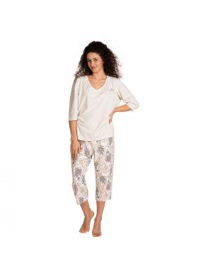 XXL Dámske 3/4 pyžamo LAMA L-1395 PY-02
