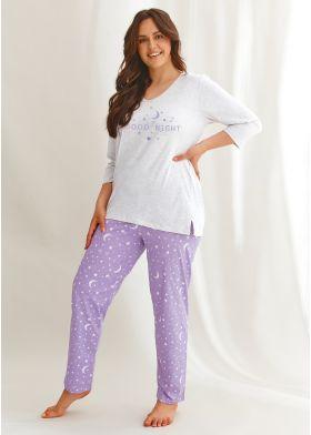 Bavlnené pyžamo pre dámy XXL TARO Isabel 2602