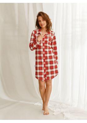 Kockovaná nočná košeľa TARO Celine 2583 Z22