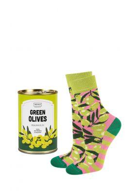 Unisex veselé ponožky SOXO Canned Green Olives
