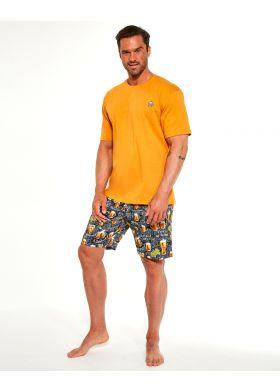 Krátke bavlnené pyžamo CORNETTE 326/192 Beer